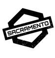 sacramento rubber stamp vector image vector image