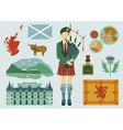 scotland design elements vector image