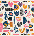 seamless colorful pattern abstract shapes vector image