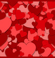 seamless pattern red paper hearts valentines day vector image