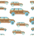 seamless pattern with cars for and vector image vector image