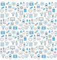 seamless pattern with chemists and pharmacy icons vector image