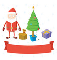 set of christmas stuff vector image