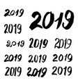 sketched 2019 greeting card calligraphy vector image vector image