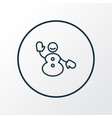 snowman icon line symbol premium quality isolated vector image vector image
