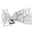 street sketch for your design vector image vector image