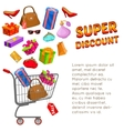 Super Discount Design vector image