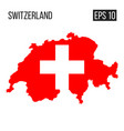 switzerland map border with flag eps10 vector image