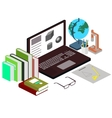 The concept of the workplace the student Science vector image