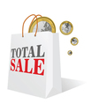 total sale with euro color vector image vector image
