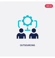 two color outsourcing icon from general concept vector image vector image