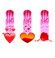 valentine cards collection vector image vector image
