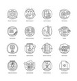web and mobile app development line icons 5 vector image