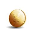 gold coin yen vector image