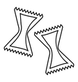 Pasta icon outline style vector image