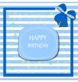 happy birthday card ribbon bow vector image