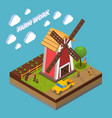 agriculture isometric composition vector image