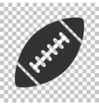 American simple football ball Dark gray icon on vector image vector image