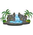 an isolated nature waterfall vector image