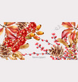 autumn wild berries greeting card vector image vector image
