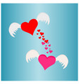 beautiful heart wing love concepts vector image vector image