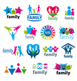 big set logos family vector image