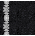black and white ornate floral background vector image