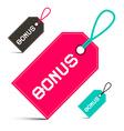 Bonus Labels Set Isolated on White Background vector image
