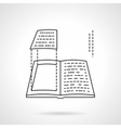 Book layout flat line design icon vector image