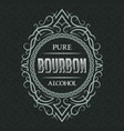 bourbon pure alcohol label design template vector image vector image