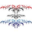 butterflies tribal vector image vector image