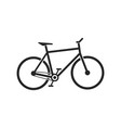 bycicle icon flat design vector image vector image