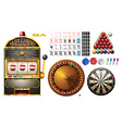 Casino machines and games vector image
