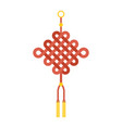 chinese knot with tassel using in lunar new year vector image vector image