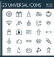 christmas icons set collection of magic sphere vector image