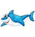 Comical shark vector image vector image
