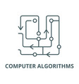 computer algorithms line icon linear vector image vector image