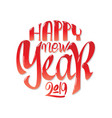 congratulations happy new year calligraphy vector image vector image