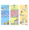 container terminal production transporter cards vector image vector image