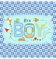 cute seamless pattern for boys in blue tones vector image