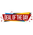 deal day banner design vector image vector image