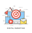 digital marketing internet advertising and vector image vector image