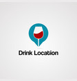 drink location logo icon element and template vector image