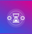 efficiency time management and productivity vector image