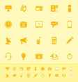 Electronic color icon on yellow background vector image vector image