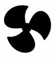 fan dark silhouette vector image vector image