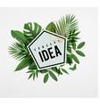 Frame floral idea green vector image vector image