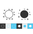 full moon simple black line icon vector image vector image