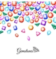 Gemstones Background vector image