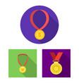 gold and award sign set of vector image